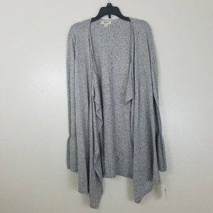 Style & Co Open Front Bell Sleeve Cardigan